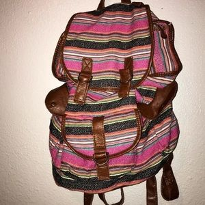 Cute Striped Backpack